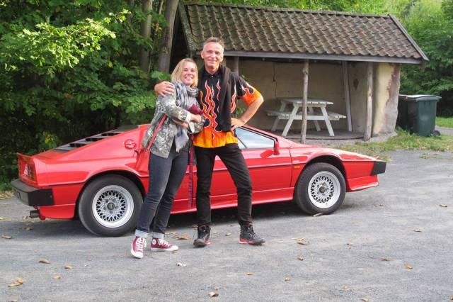 Johnny og Cecilie på vei til vår siste konkurranse.