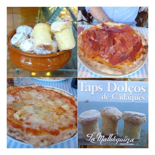 Plaza har de beste pizzaene i byen. Pass deg for Taps de Cadaques til dessert. Masse flambert rom...