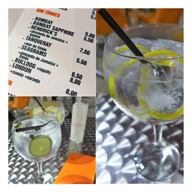 Pa Veronica på Rambla de Raval i Barcelona serverer de deilige G&T'er.