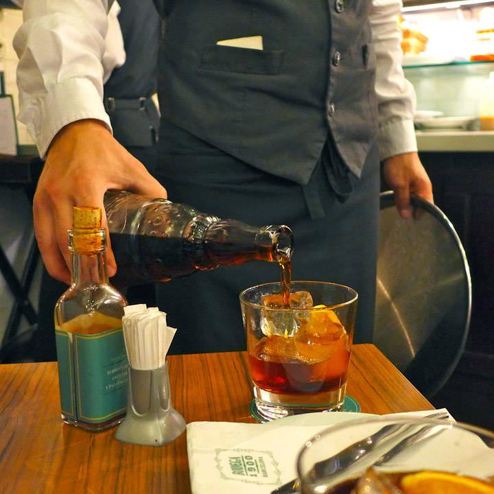 Martini Rossa med is og appelsin. Deilig vermut.