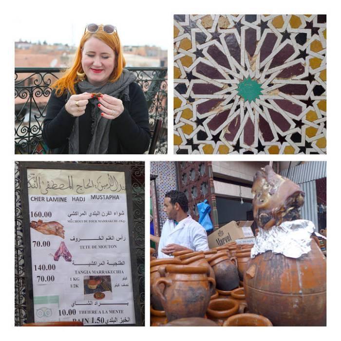 """Jeg spurte Madani om hva restauranten vi spiste på het, men han så bare rart på meg å sa """"The Michuie Place"""". Ok. Det ligger altså fire-fem på rad og rekke og de serverer det samme, så da er det vel ikke mer innviklet enn at man bare tar det stedet som har ledig plass. Spør etter dette når du kommer til Marrakech og sørg for å spise dette mens du er der. Anbefales på det varmeste!"""