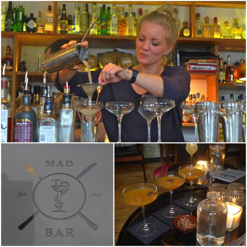 Her mikses det cocktails med havtorn (tindved på norsk). Trendy bær til trendy drinker.