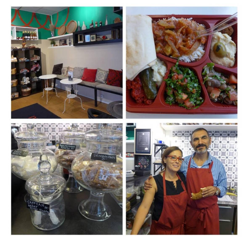 Downtown Deli i Kyrkogatan 40 serverer libanesisk mat som meze-tallerken og grillet wrap. Samar og Roger kommer fra Libanon og Syria. De startet restauranten i 2013 og tenker å åpne en libanesisk restaurant i Oslo også.