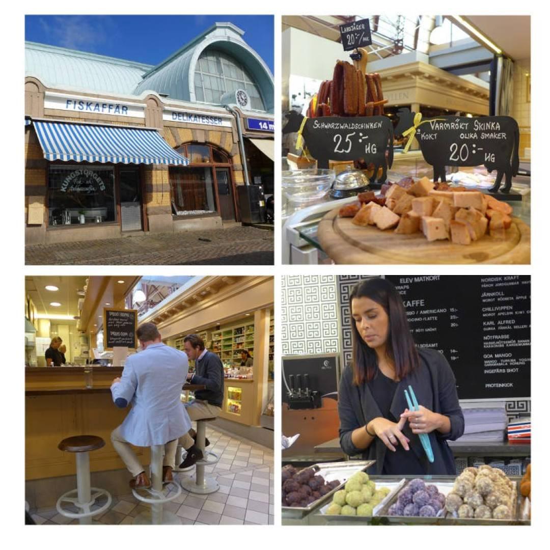 Saluhallen er en herlig mathall med deilige butikker og serveringssteder. Her får du alt fra tradisjonell svensk kost til rawfood fra «På kanelen».