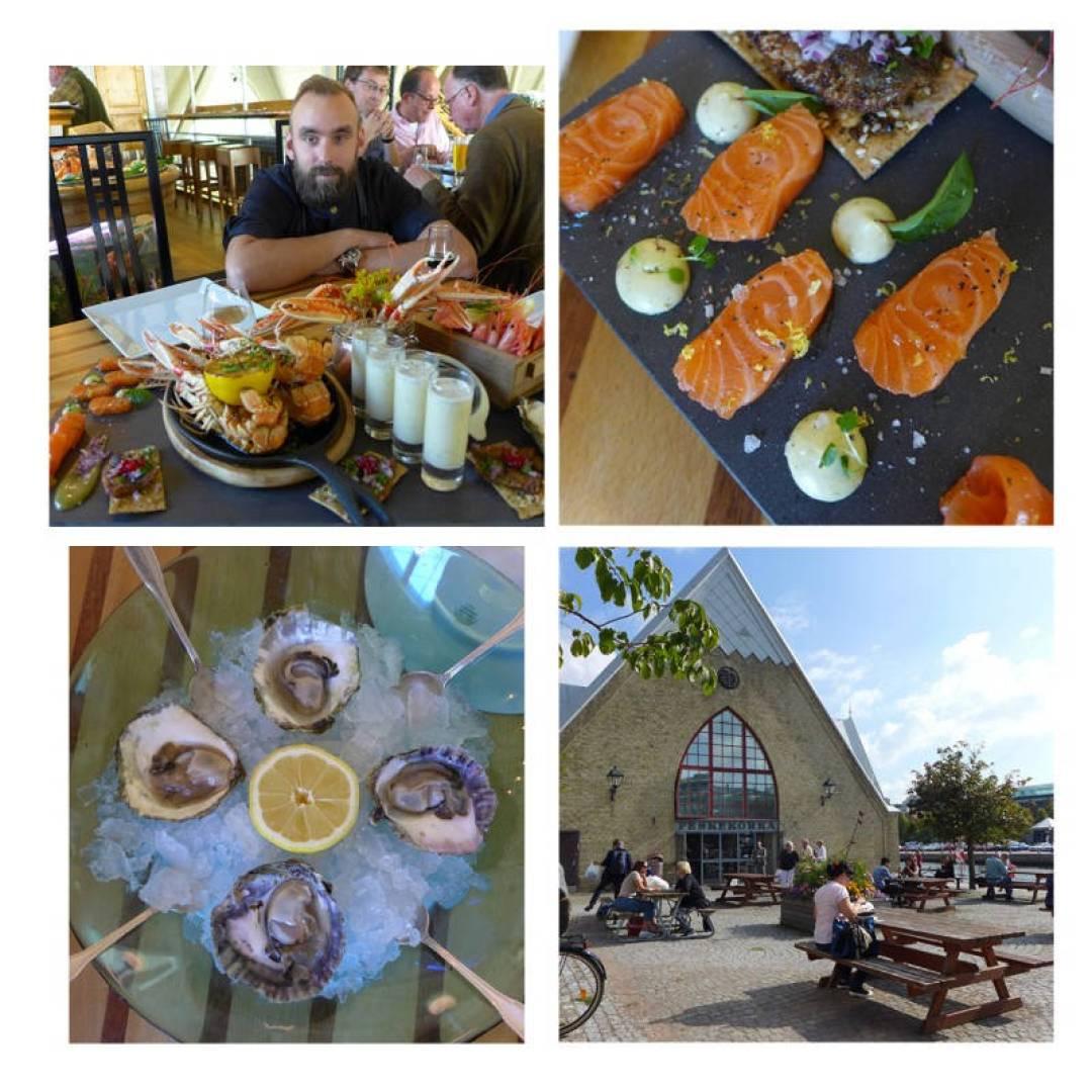 Skalldyr-paradis hos restaurant Gabriel i den flotte fiskehallen «Feskekörka». Les mer her og få en deilig oppskrift på grillede sjøkreps.