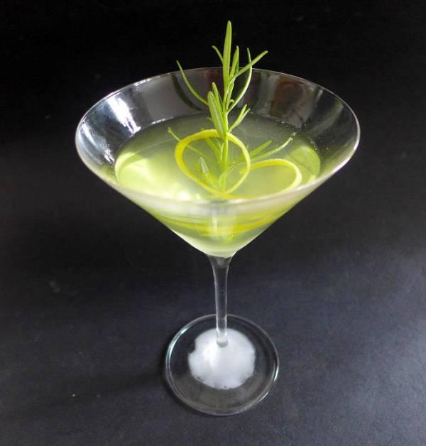 Dry Rosemary Martini
