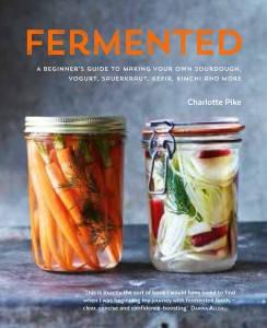 Boken får du kjøpt i bokhandelen nå. Fermented by Charlotte Pike is published by Kyle Books.