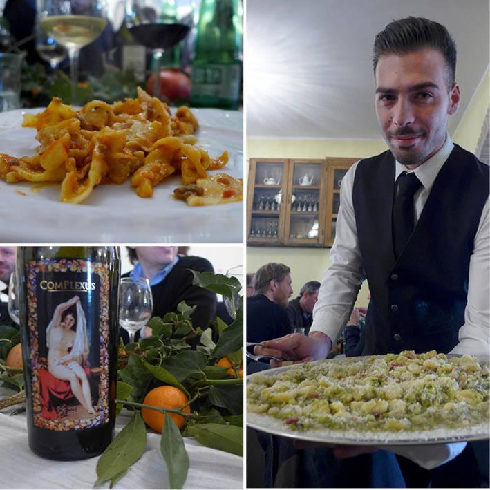Vår hjemmelagde pasta og gnocchi. Vår pasta var best. Den ble servert i en bolognese-ragu, mens gnocchien ble servert med røkt flesk og brokkoli.