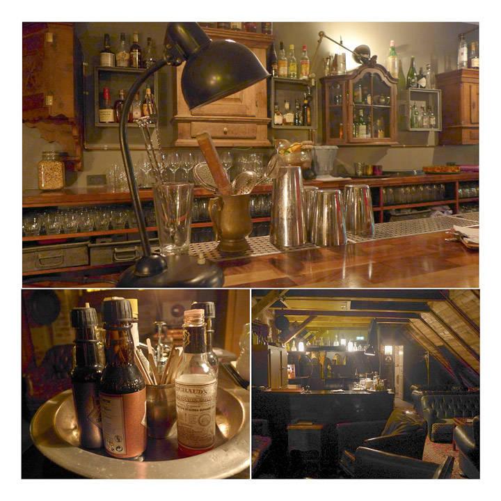 Bardisken i 2. etg og bilder fra whiskybaren i 3. etg.
