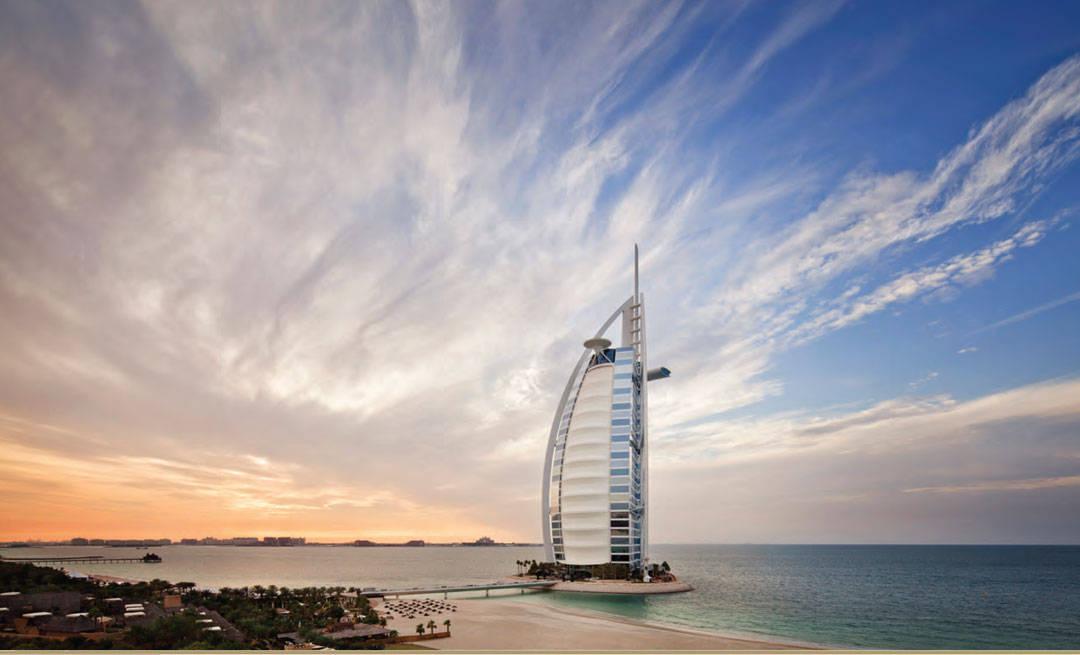 """Seilet"" Burj Al Arab i Dubai."