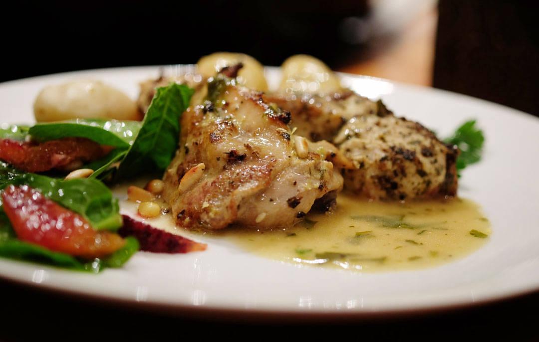 Saftig kylling i herlig sitronsaus.