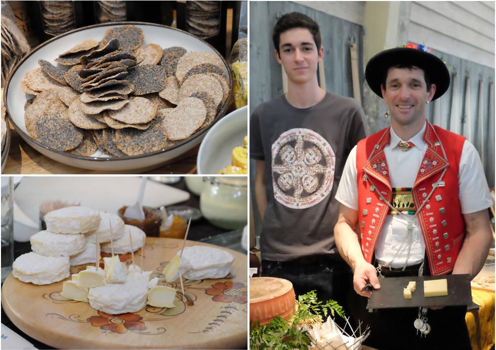 Fantstiske miniknekkebrød og oster.