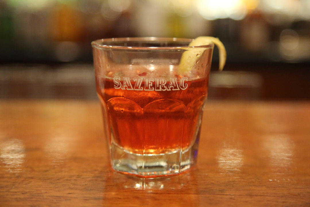 Sazerac på The Sazerac Bar i New Orleans.