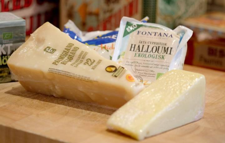 oster; Parmesan, mozzarella, halloumi og prestost