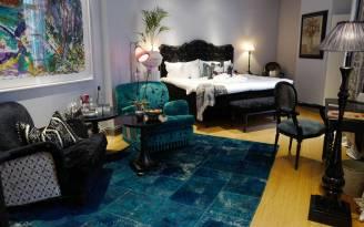 Et av de flotte rommene på hotellet.