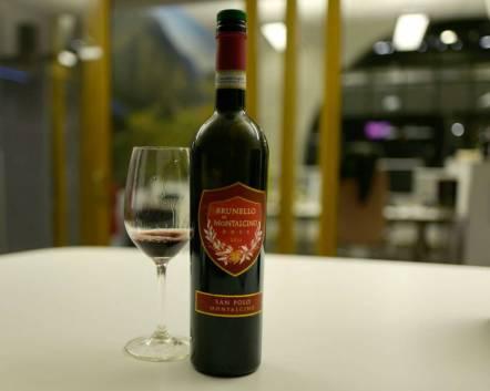 San Polo Brunello di Montalcino. Åh! Brunello. Jeg elsker Brunello, men det er ganske dyrt. Denne fra San Polo koster kr. 459. Den er tørr, bløt og aldeles fabelaktig.