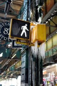 Kaldt i New York denen dagen.