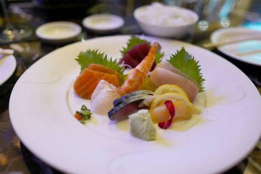 Sashimi-tallerken på Nobu. Perfeksjon.
