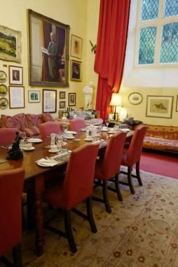En av rommene i det gedigne slottet.
