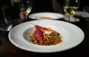 Spaghetti med sjømat