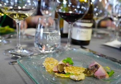 Trøffellunsj på Ponzi vingård.