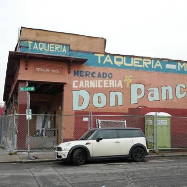 Typisk fasade i Alberta Street.