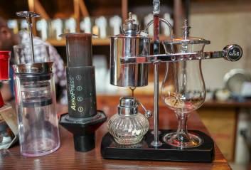 Moderne kaffebryggeutstyr