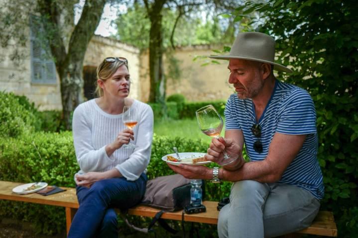 Master of Wine, Robin Kick og vinblogger Drew fra Wine Wankers.