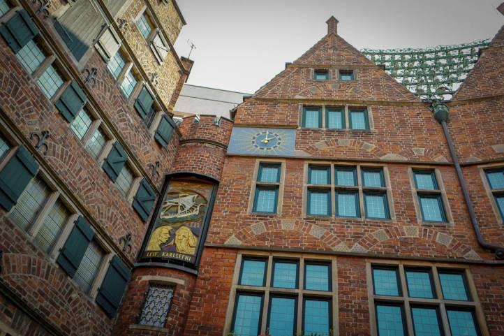 Det kjente klokkespillet i Bremen.