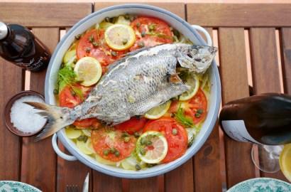 Hel fisk på Cadaques-vis