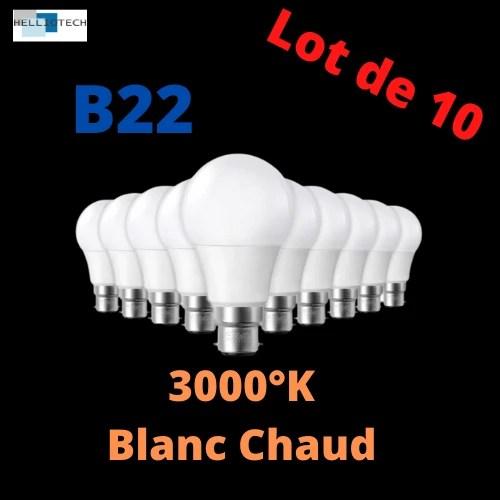 Ampoules LED B22 Lot de 10
