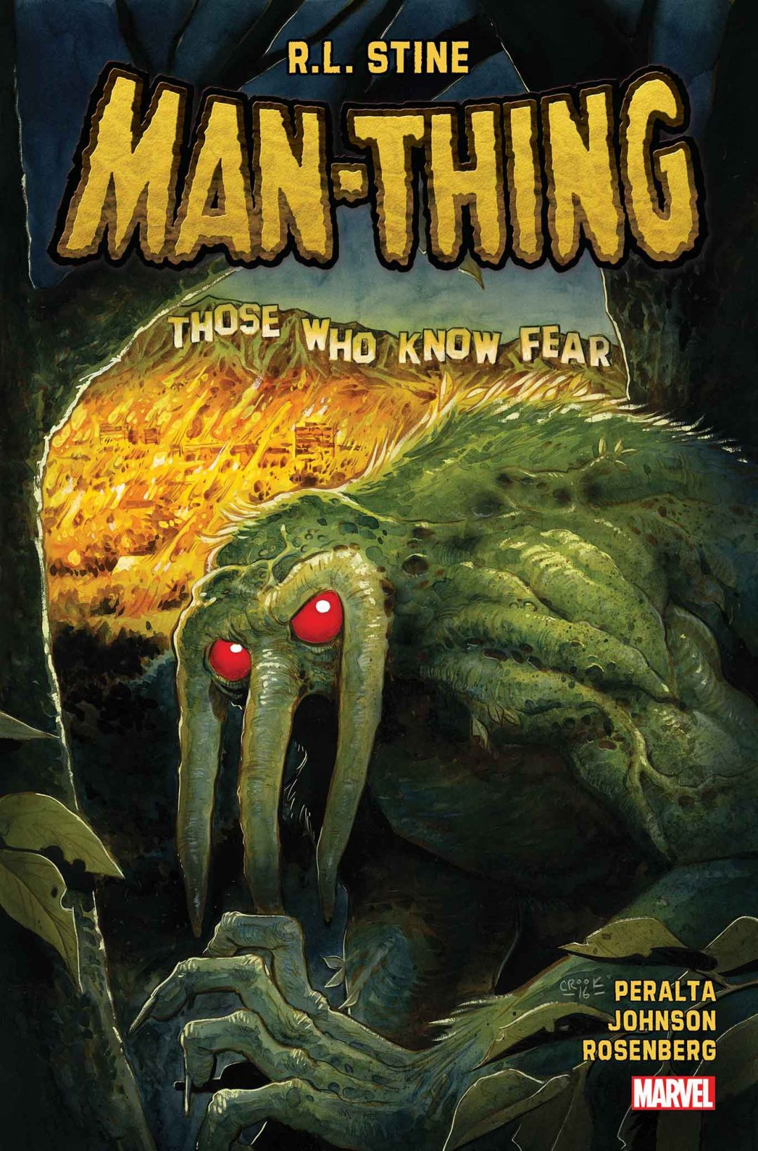 Marvel Comics Welcomes R.L. Stine to Helm New 'MAN-THING' Series!