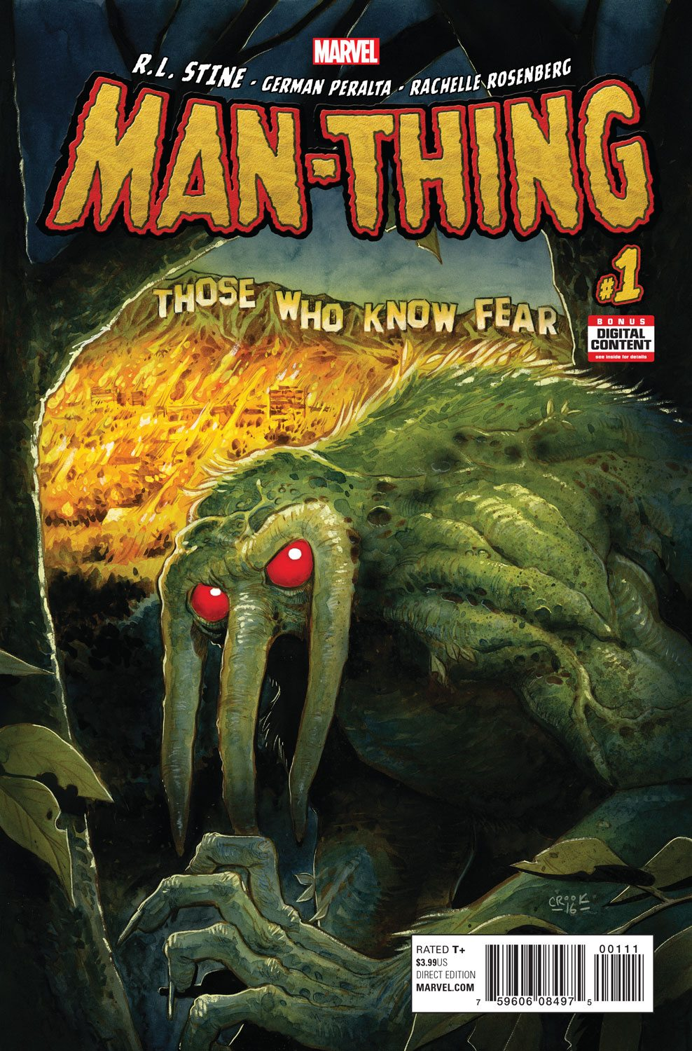 World Famous Author R.L. Stine Comes to Marvel – Your New Look at MAN-THING #1!