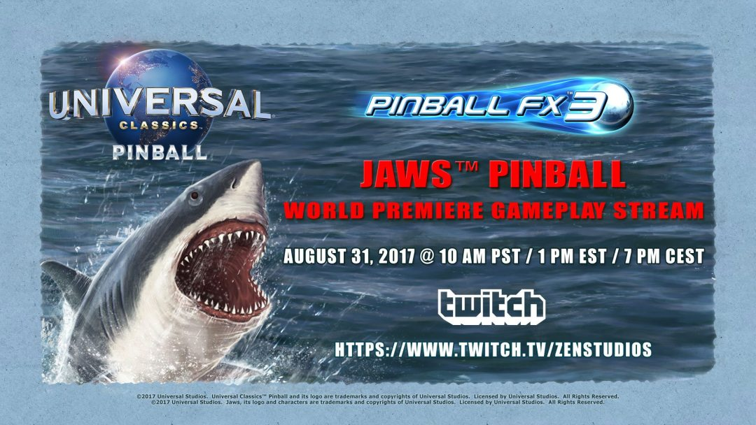 Jaws is Coming to 'Zen Pinball FX 3!'