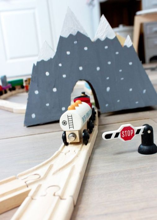 DIY kidroom // Hëllø Blogzine www.hello-hello.fr #diy #kidroom #train #lillabo #ikea