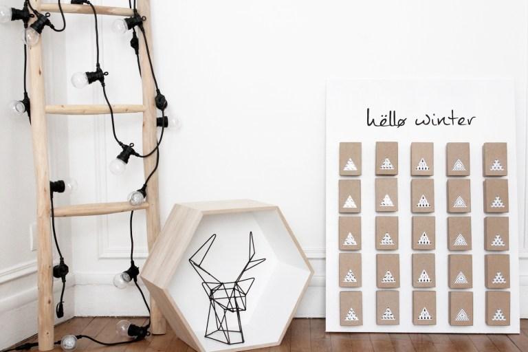 Calendrier de l'Avent DIY par Les Cocottes // Hëllø Blogzine www.hello-hello.fr