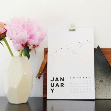 calendrier-design-black&white