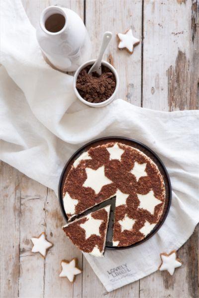 Cheescake cacao déco étoiles