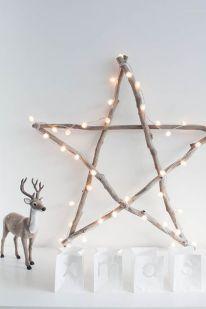 Une étoile en bois