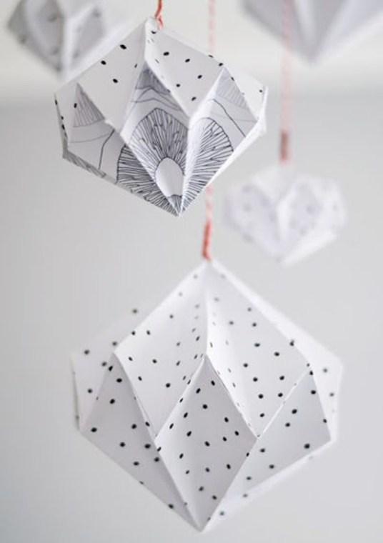 Suspension géométriques en origami