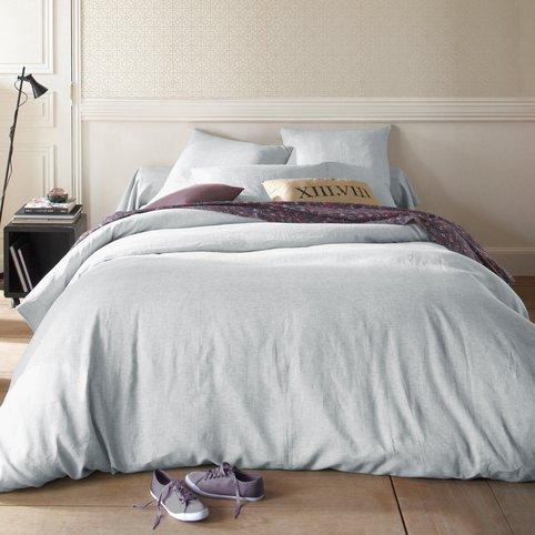 Linge de lit en lin celadon