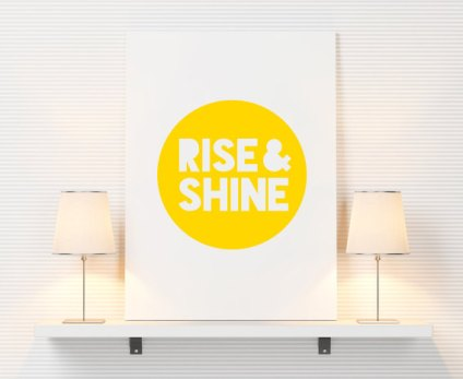 Poster Inspirant - Etsy - Rise and Shine