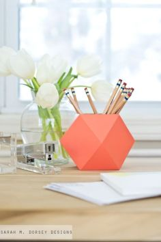 Pot à Crayon Origami