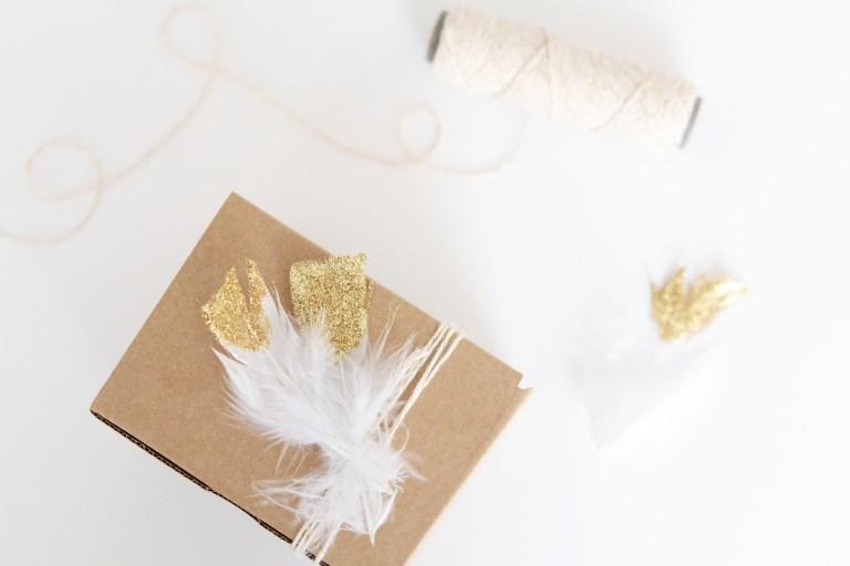 Inspiration Paquet Cadeau avec des Plumes