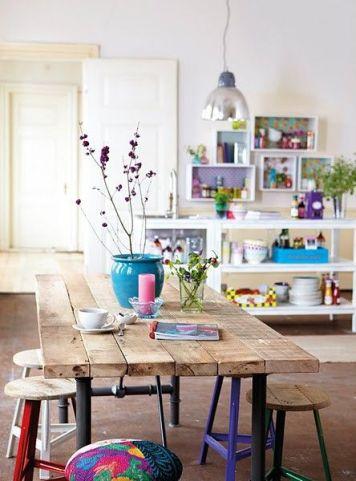 inspiration-deco-boheme-chic-table-cuisine-bois