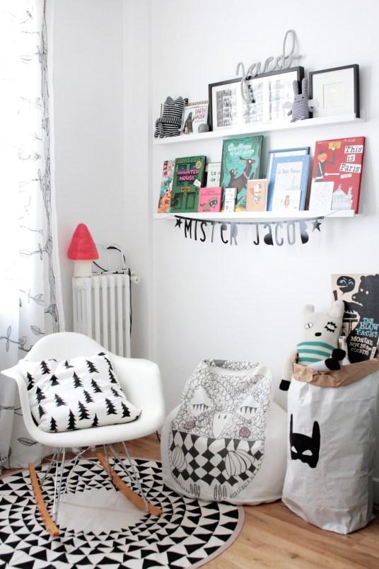 chambre-enfant-scandinave-noir-et-blanc
