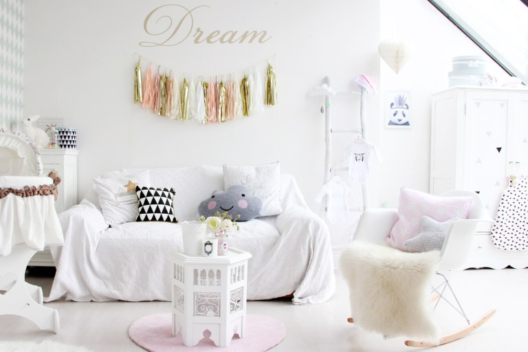 Chambre bebe scandinave shabby chic 1