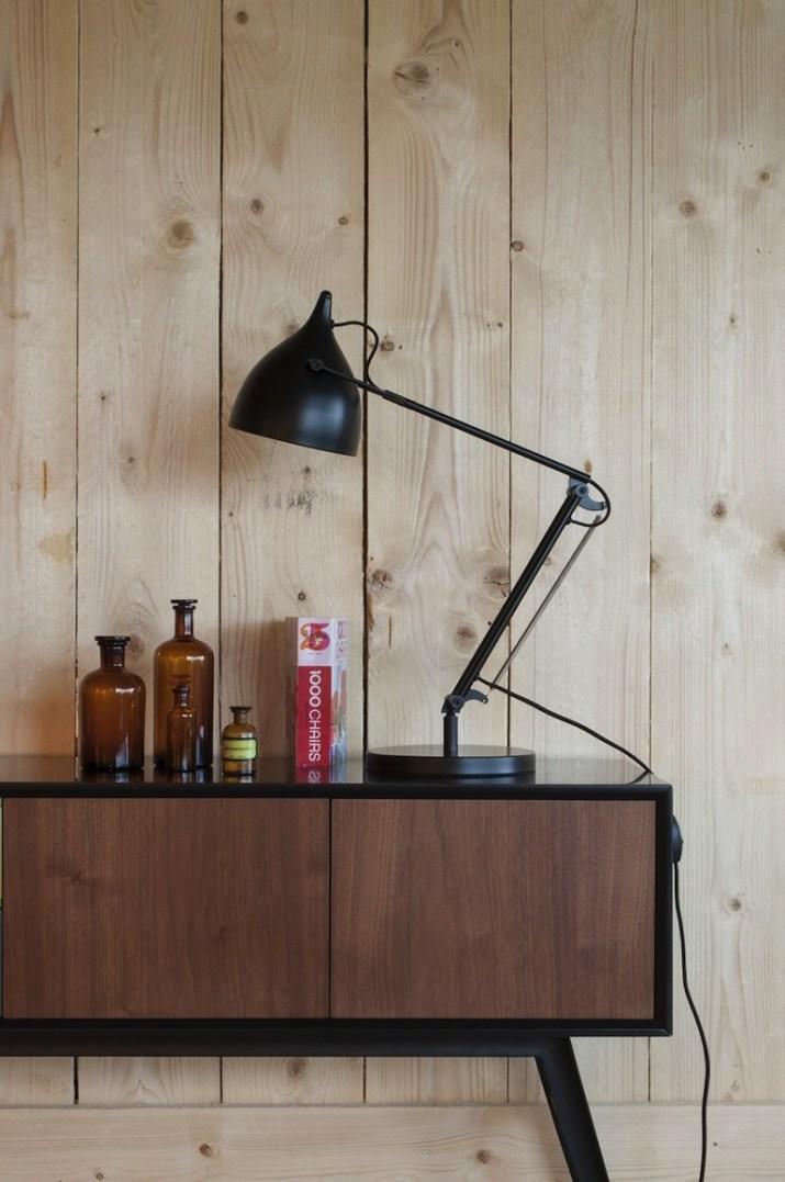 Lampe noir Matt