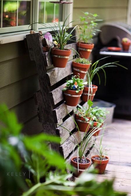 jardinière palette bois