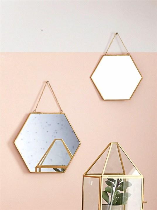 miroirs hexagonaux retro